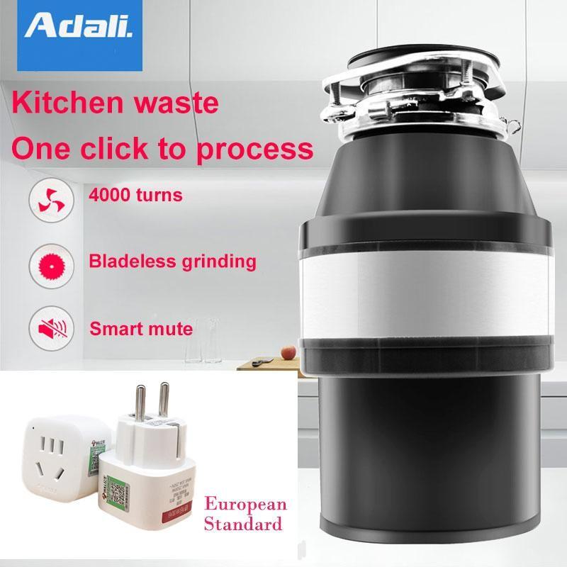 Adalı 380W отходов Disposer воздуха Переключатель 1400 мл большой емкости вывоз мусора из нержавеющей стали Grinder кухонная техника