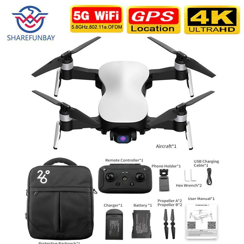 2020 X12 GPS Drone com WiFi FPV 4K HD Camera Brushless Motor dobrável Quadrotor Anti-shake 3 Axis Gimble drones Vs H117s SG906