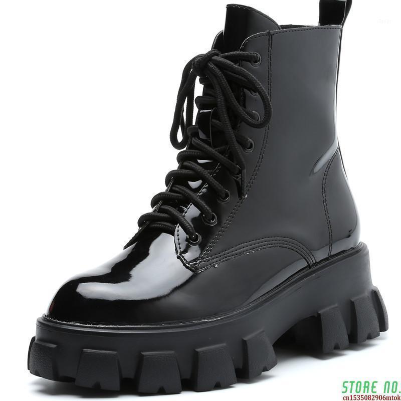 2021 Mode stil frauen stiefel plus samt frauen plattform stiefel beiläufig dicke sohle damen schuhe frauen boot1