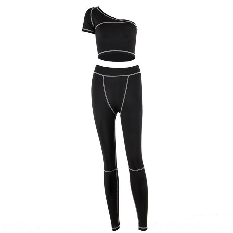 HXQC 2019 Novo Two Parte Set Winter Women Festival Roupas Fall Tracksuit Top + calça suor ternos néon 2 conjuntos de roupas peça de correspondência