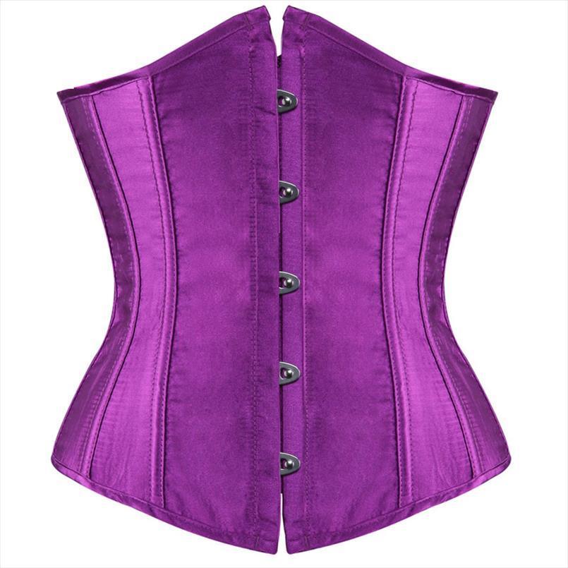 plus size sexy corset underbust bodyshaper trajes espartilhos bustiers senhoras burlesco rosa azul vermelho corselet