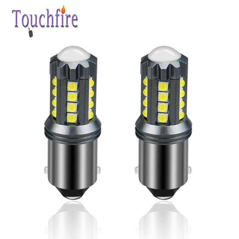 2PCS P21W 1156 BA15S Canbus ERROR FREE 23 LED-3030 SMD Car LED Bulb Replace 1600Lm Auto Brake lamp Reverse Signal Light No Flash