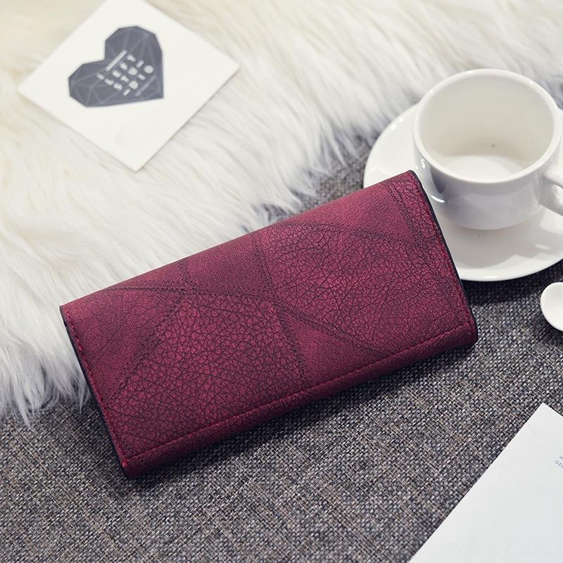 das mulheres bolsa 2020 carteira novo longa coreano moda cor carteira sólida grande capacidade de mão multi-funcional realizada 3Cnki