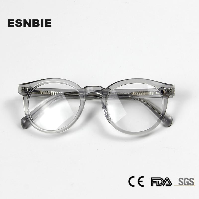 Mode Transparente Glas-Rahmen runde Weinlese-Frauen-Brillen Frames Acetate Myopie Rahmen Gläser Trendy Optical