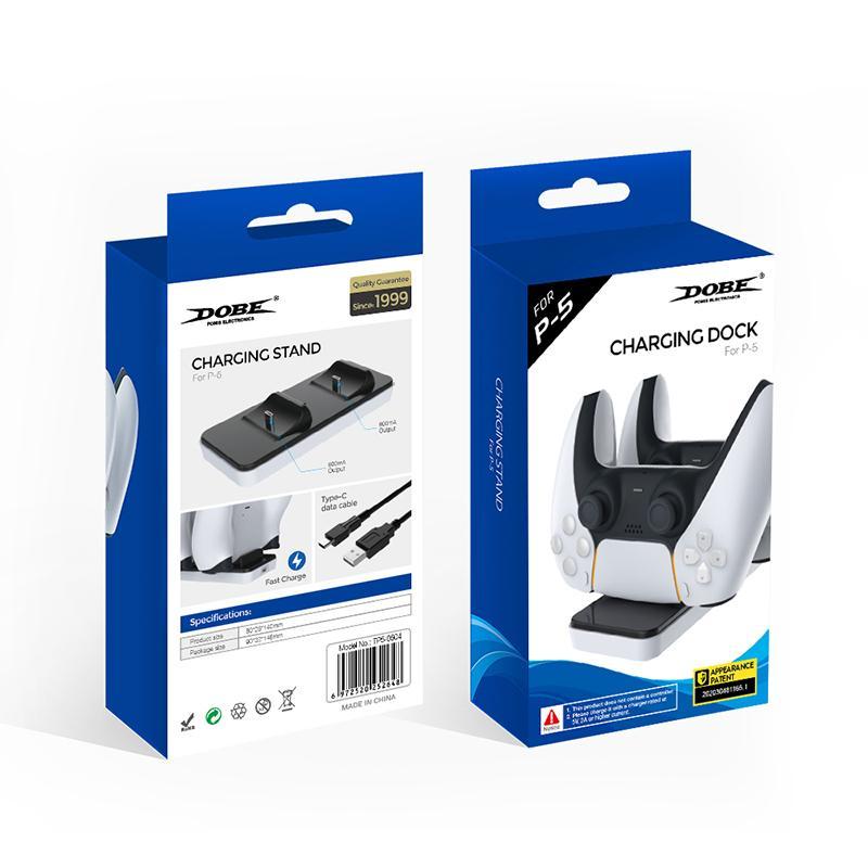 New Dual Charger Dock Mount USB Carregando Stand para PlayStation 5 PS5 Xbox One Gaming Wireless Controller com caixa de transporte rápido