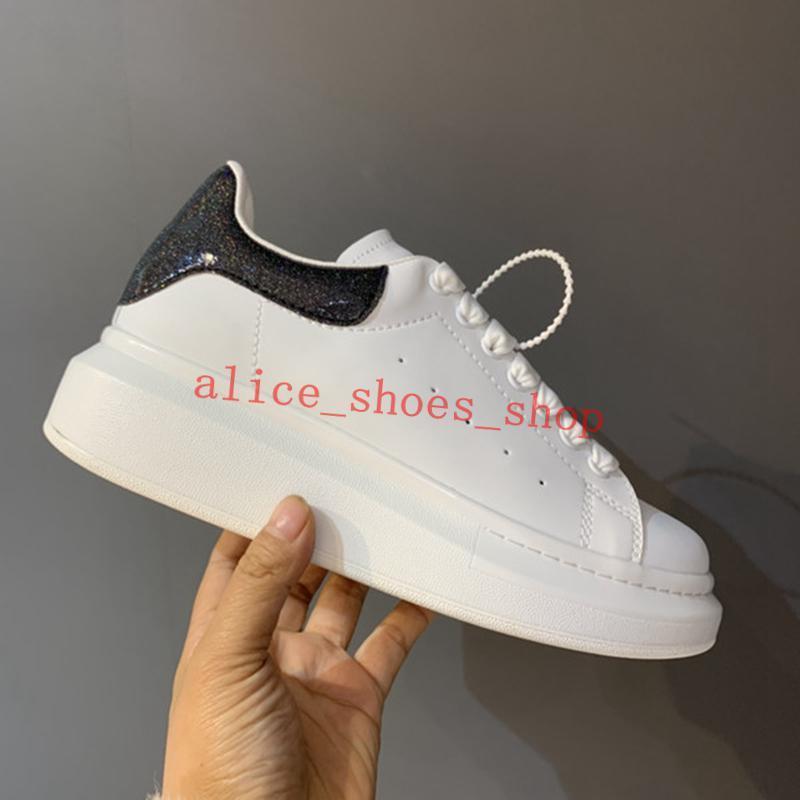 2021 Люкс Прогушисты мужские и женские кожаные кожаные туфли платформы кроссовки модные красочные каблуки плоские туфли 35-45