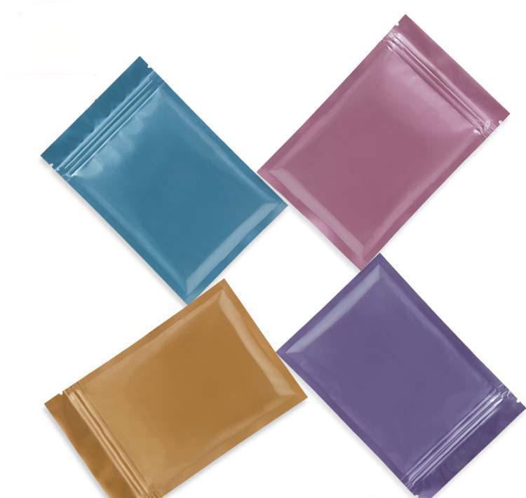 FedEx Çok Renkler Açılabilir Zip Mylar Çanta Gıda Depolama Alüminyum Folyo Çanta Plastik Ambalaj Torbası S SQCQGK HOMES2007