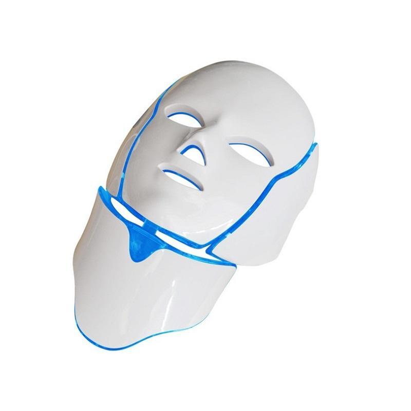 Новейшие 7 цветов LED светой маски терапии с шеей / PDT LED светолечение Spa использование лица отбеливающего LED маски с шеей