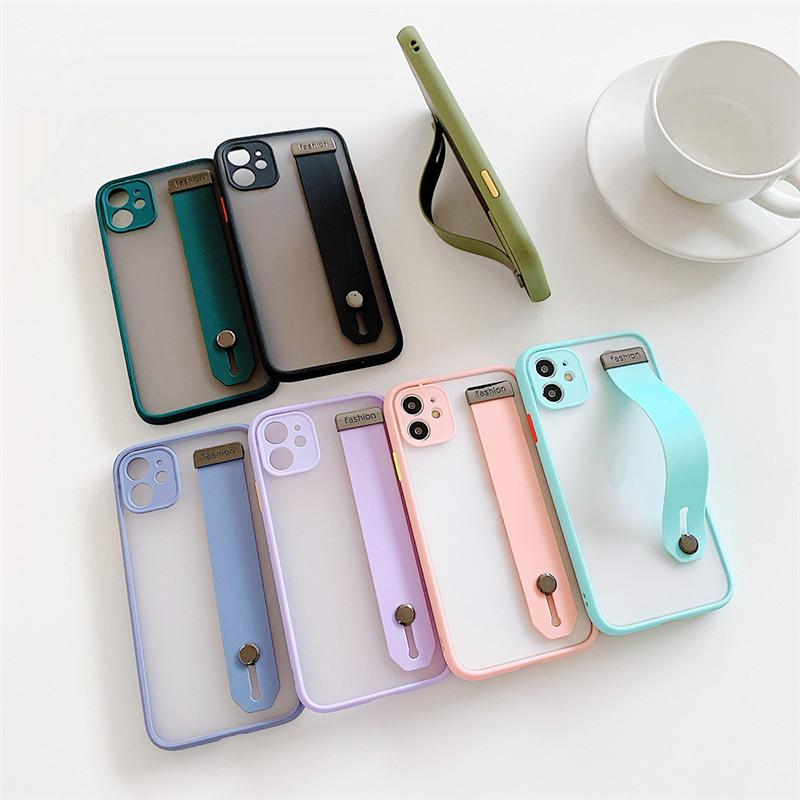 Phone accessories Camera Protection Shockproof phone cases Wristband Transparent Phone Covers holder For Samsung Huawei P40 Pro P30 mate30