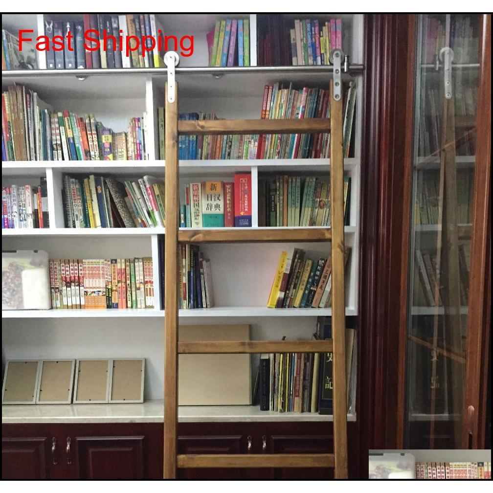 الفولاذ المقاوم للصدأ انزلاق مكتبة مكتبة الأجهزة انزلاق حظيرة سلم مكتبة سلم الأجهزة فو Qylonf yh_pack