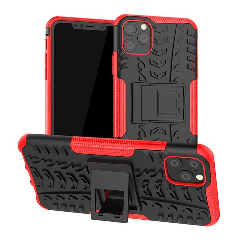 Cassa del telefono ibrida Armatura per iPhone 12 11 mini guscio delle cellule Pro MAX supporto del basamento per Samsung Galaxy S20 Moto Google LG Sony