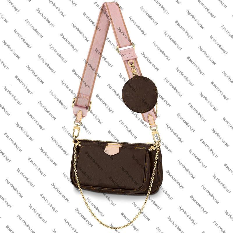 Multi Sac Femme Portefeuille Cowhide-Cuir Pochettes Pochettes Deux Round Natural Coin Accessoires Canvas Sac à main Mini Pochette M44840 Kbwo