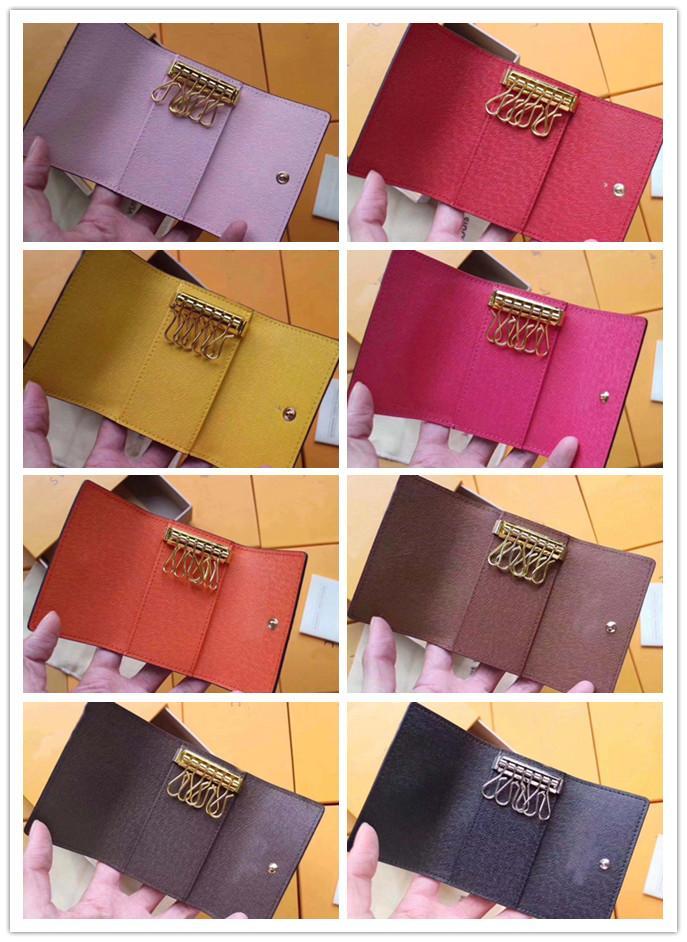 Top por soporte de calidad corta clásico Top para cuero multicolor Cerra Cartera Hombres Key Seis Pocket Men Wholesale Zipper Mujer Lady Cadena WTLHH