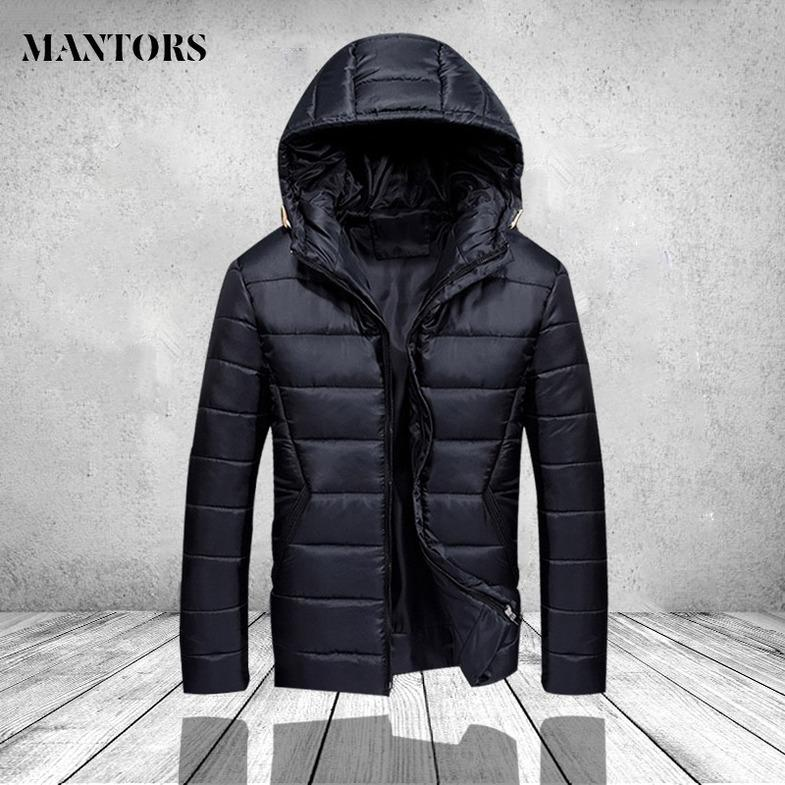 2019 Winter Jacket Men Hooded Slim Korean Jacket Coat Fashion Cotton Youth Clothing New High Quality Winter Warm Zipper Coats kg-566