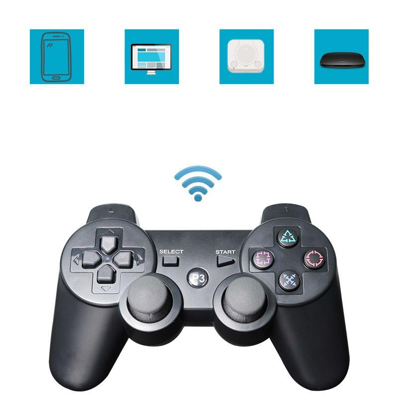 Bluetooth Gamepad Joystick ل PS3 تحكم لاسلكي بلوتوث غمبد جويستيك لسوني بلاي ستيشن 3 PS3 Sixaxis Gamepads Q0104