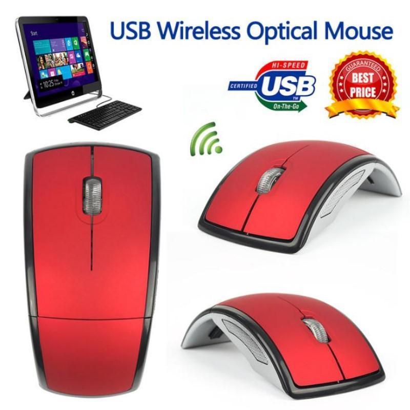 2.4GHz Wireless Optical Mouse Gamer para PC Gaming Laptops New Game sem fio dobrar Ratos com USB receptor do rato Drop Shipping