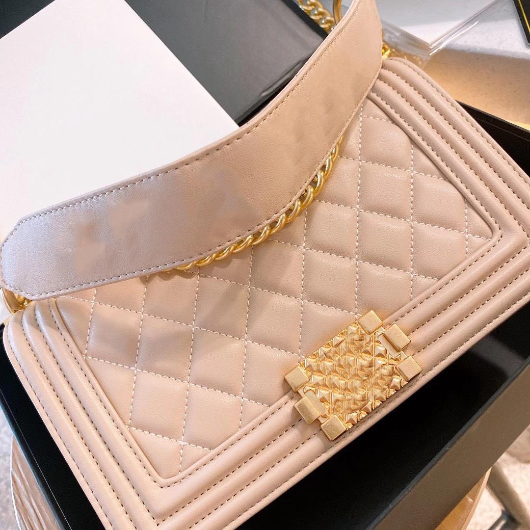 Ledertaschen Große Womens Bag Original CC Bag High Designer Shipping Boy Series Schulter Messenger Luxurys Qualität Buchstaben frei 202 Kkslh