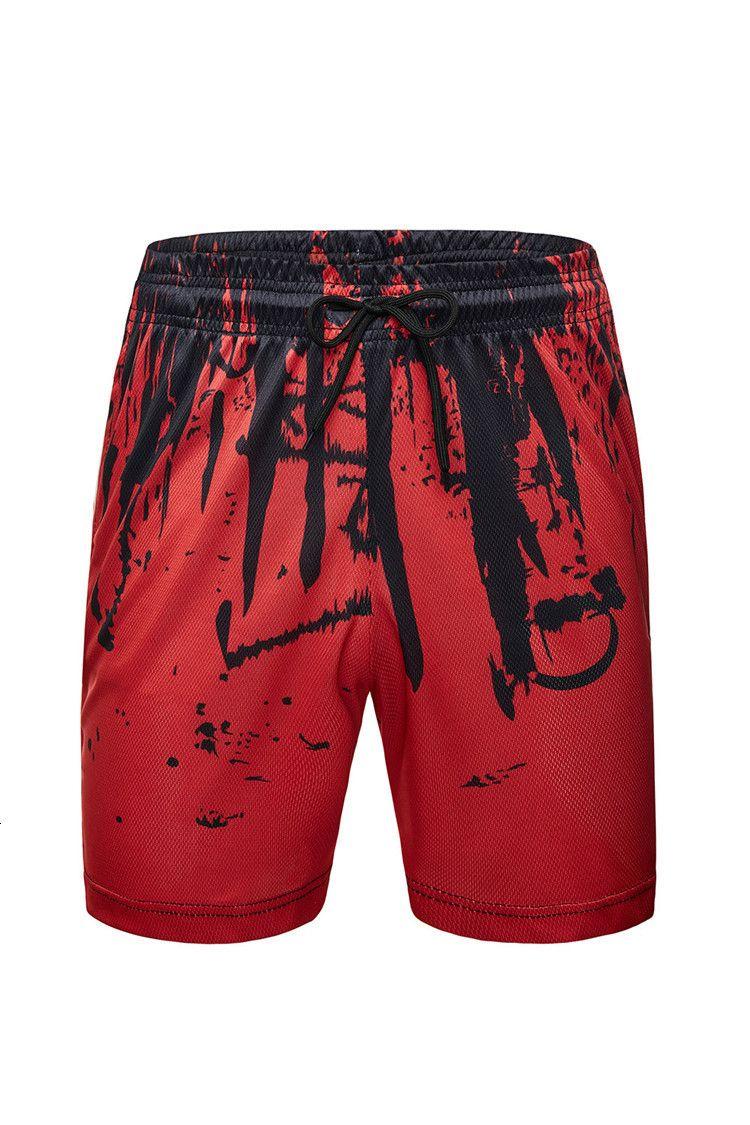 Casual Hommes Summer Imprimer Imprimer Beach Grand Short sportif