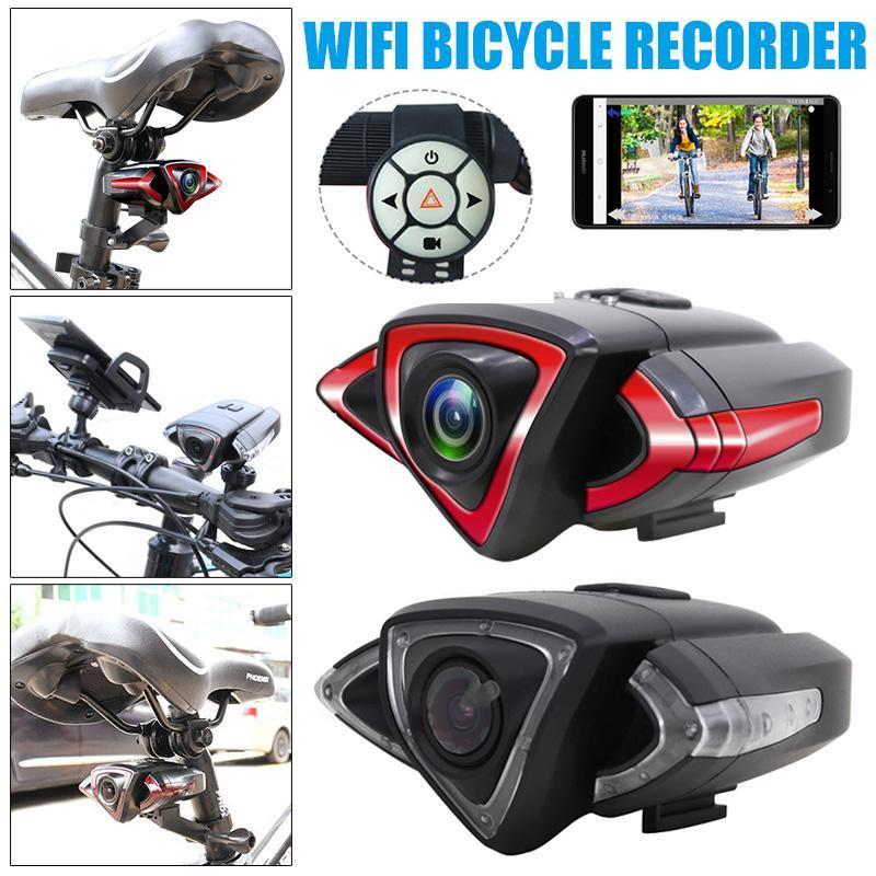 Велосипедист камера ночного заднего вида WiFi Велосипед Cam DVR велосипед Велоспорт Видеорегистратор велосипед принадлежности NC99