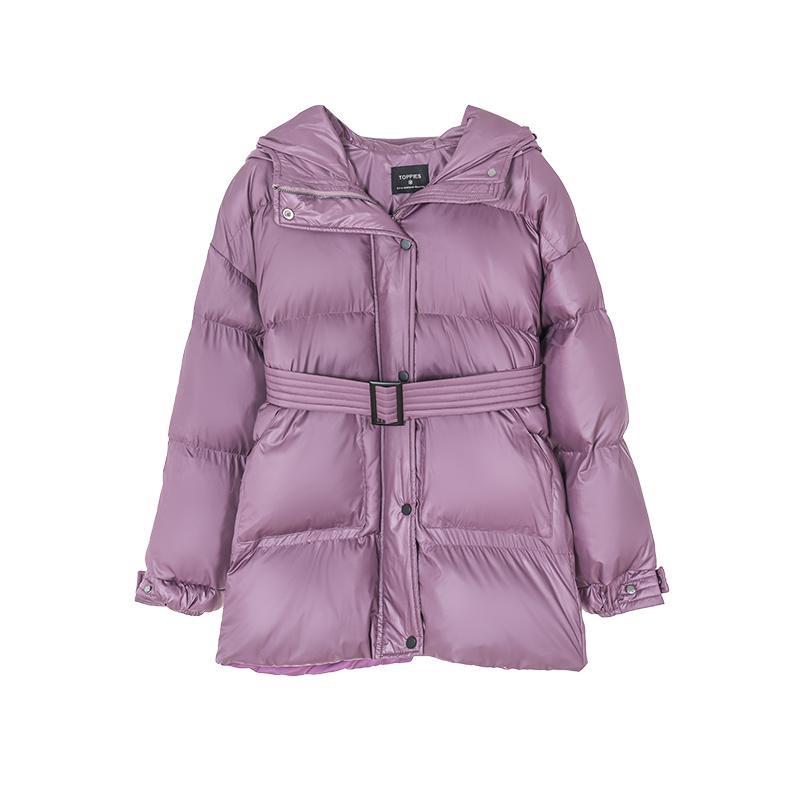 Winter mit Kapuze Kugeljacke Mantel Frauen Parkas Gürteljacke Übergroßen Outwear Damen Kleidung 2020