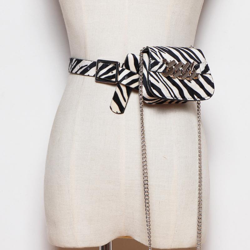 Fashion's Women's Cintura Bolsas De Couro Bags Fanny Pack Cadeia Cintura Packs Hip Pack Multifunction Crossbody Bolsa J1209