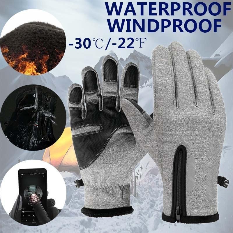 Dayanıklı Dokunmatik Ekran Su geçirmez Malzeme Cep Telefonu Tut Sıcak Binme Eldiven Sıcak Eldiven Kayak Motosiklet Fleece Eldiven Kış