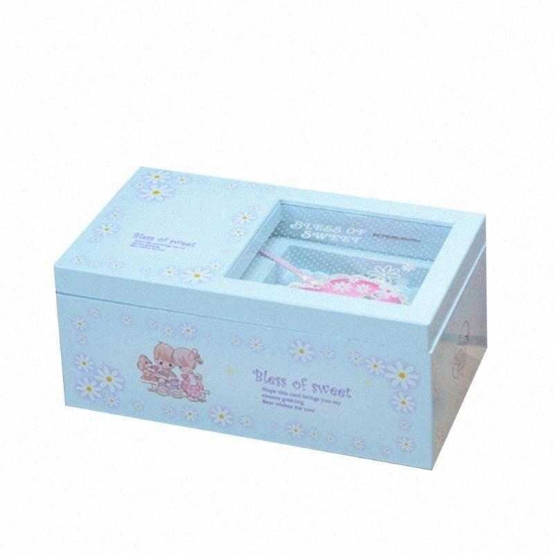 Music Box Bureau de souvenirs Portable Décoration de stockage à bijoux de mariage mignon avec miroir danse Ballerina enfants cadeau Melody R17r #