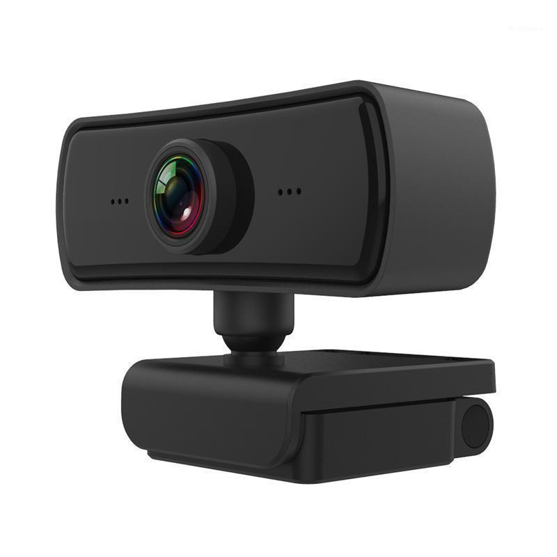 Веб-камеры 2021 Auto Focus 1080P HD WebCam Mini Компьютер компьютер PC WebCamera Встроенные микрофоны для Live Breadcast Video Calling Conference1