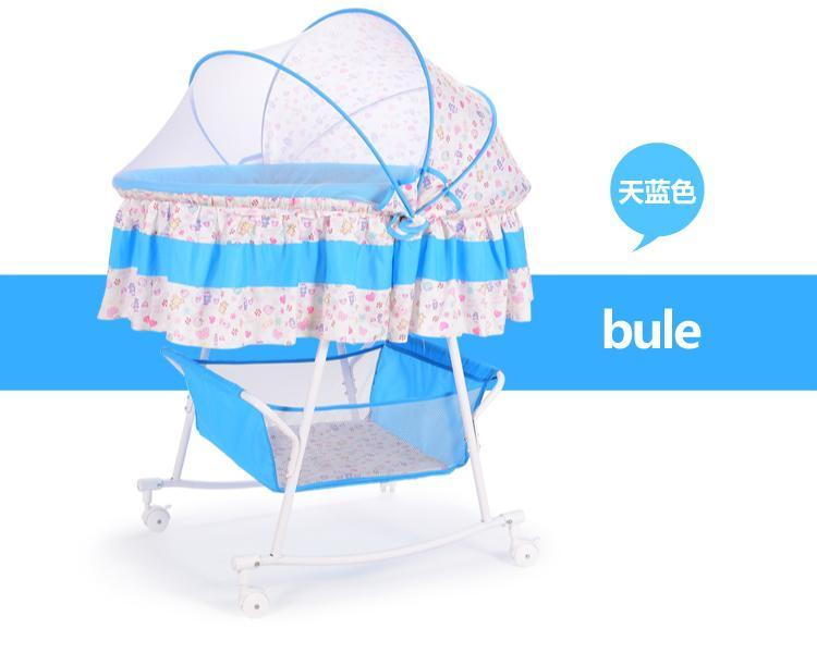 Baby cradle bed small concentretor newborn baby bed perambulatory band mosquito net multifunctional bb with roller sleeping