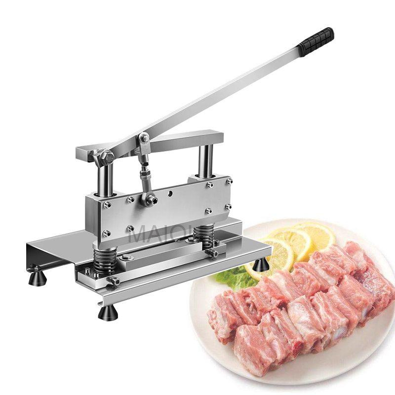Couper le porc Chop os Trotters machine en acier inoxydable Trancheuse à viande Iever Principe piste Structure Scier Bone Machine