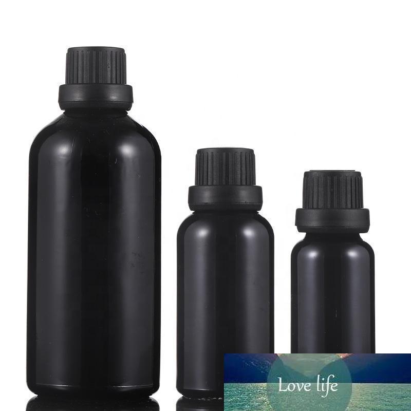 10 ml 15 ml 20 ml 30 ml 50 ml 100 ml en verre Essential Noir Brillant Huile Sérum Flacon compte-gouttes Vente chaude