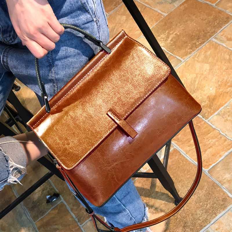 Echte marke frauen echtes leder tasche 2020 mode umhängetasche leder handtaschen boston große weibliche kuh lftfx