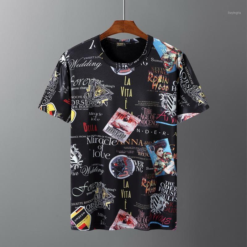 10XL 9XL 8XL 7xL 6XL T-shirt da uomo T-shirt Mens Hip Hop Tshirt T-shirt in cotone Manica corta Top Tees Street Wear Summer 58 601