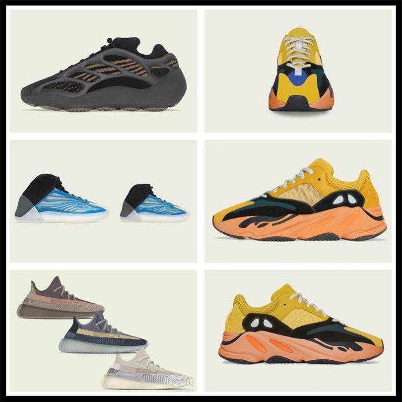 Sombrillas deportivas para mujer para hombre 2021 Kanye West Ash-Stone Sun Tienda Oficial Tienda Nueva Luz Reflectante Casual Super Sneakers Ventilation Shoe Shoe 36-48
