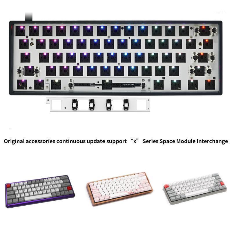 Keyboard Mouse Combos Mechanical GK61X DIY Kit Swap GK61 Обновление Версия 60% Для Cherry MX Switch Gateron Kailh Switch1