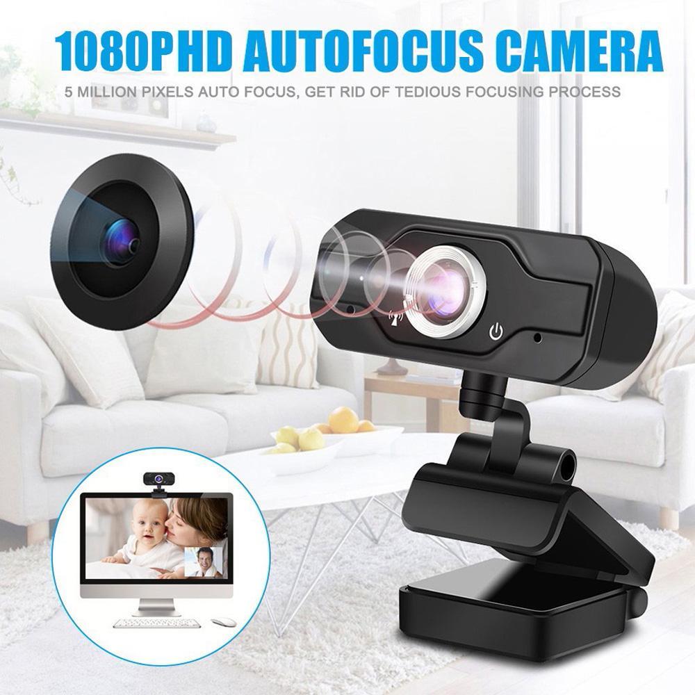 1080P Full HD Megapixel USB2.0 Webcam-Kamera mit MIC-Clip-On für Computer-PC-Laptop 2MP-Webcam-Breitbild-Videoanrufe