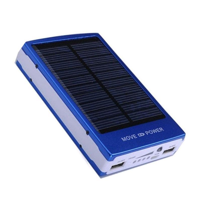 30000mAh Solar Power Bank портативный Travel Mobile Power Солнечная панель Автоматическая зарядка в ВС Внешнее зарядное устройство Бесплатная доставка