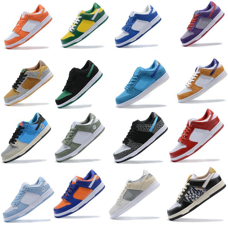 Dunk SB Running shoes Low Pro Iso Infrared osos Naranja Amarillo Verde Azul Opti Furia Ciruela láser Orange moda al aire libre entrenador de deporte de las mujeres