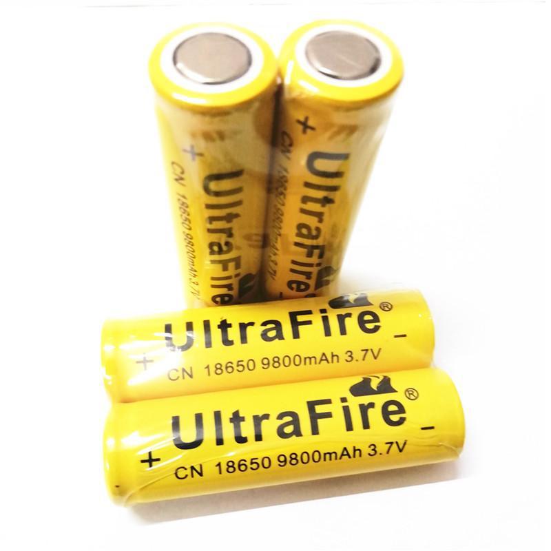 Yellow 18650 ULTREIFIRE 9800MAH аккумуляторная батарея 3.7V плоская литиевая батарея для светодиодного фонарика цифровая камера аккумуляторная литиевая батарея
