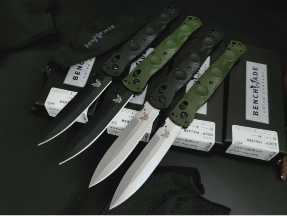 Benchmarke BM391 SOCP katlama bıçağı D2 bıçak naylon, cam elyaf plastik sap ev Açık bıçak BM484 BM535 BM940 BM940-1 BM485 EDC aracı