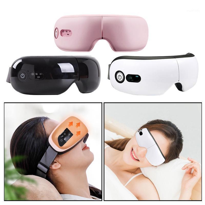 Rechargeable USB Heating Electric Eye Massager Portable Relieving Dry Eyes Heated Eye Mask Sleeping Adjustable Elastic Band1