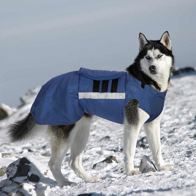 Su geçirmez Köpek Kış Coat Sıcak Büyük Köpek Ceket Yelek Evcil Hayvan Giysileri Orta Büyük Köpekler için Husky Labrador Kıyafet Evcil Takı Clothi Jllglw