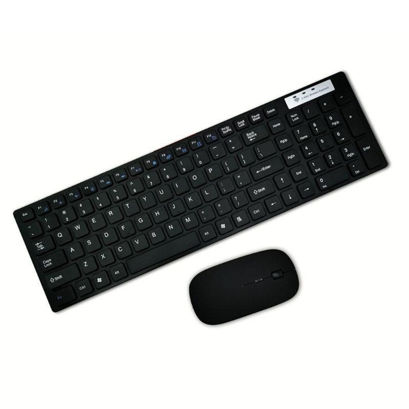 Универсальный Бесшумный Ультратонкий 2.4G беспроводная клавиатура и мышь Набор для портативных ПК Компьютер