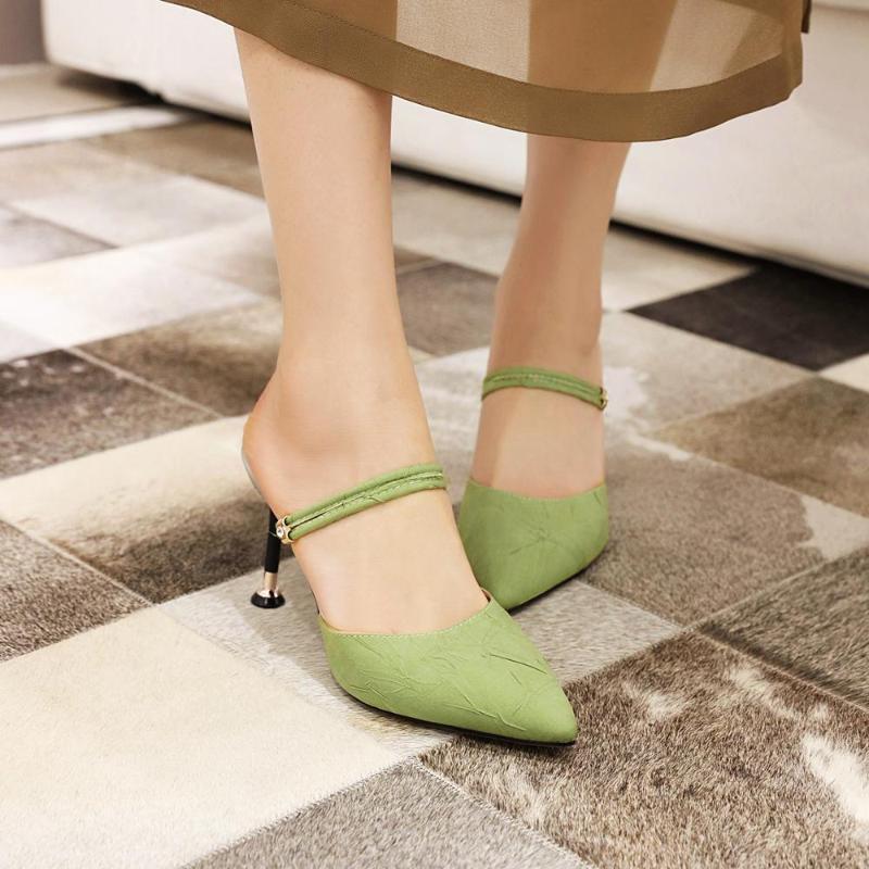 Zapatos de vestir 8,5 cm stiletto stilettos con pliegues puntiagudos, estilo, un zapato y dos muller