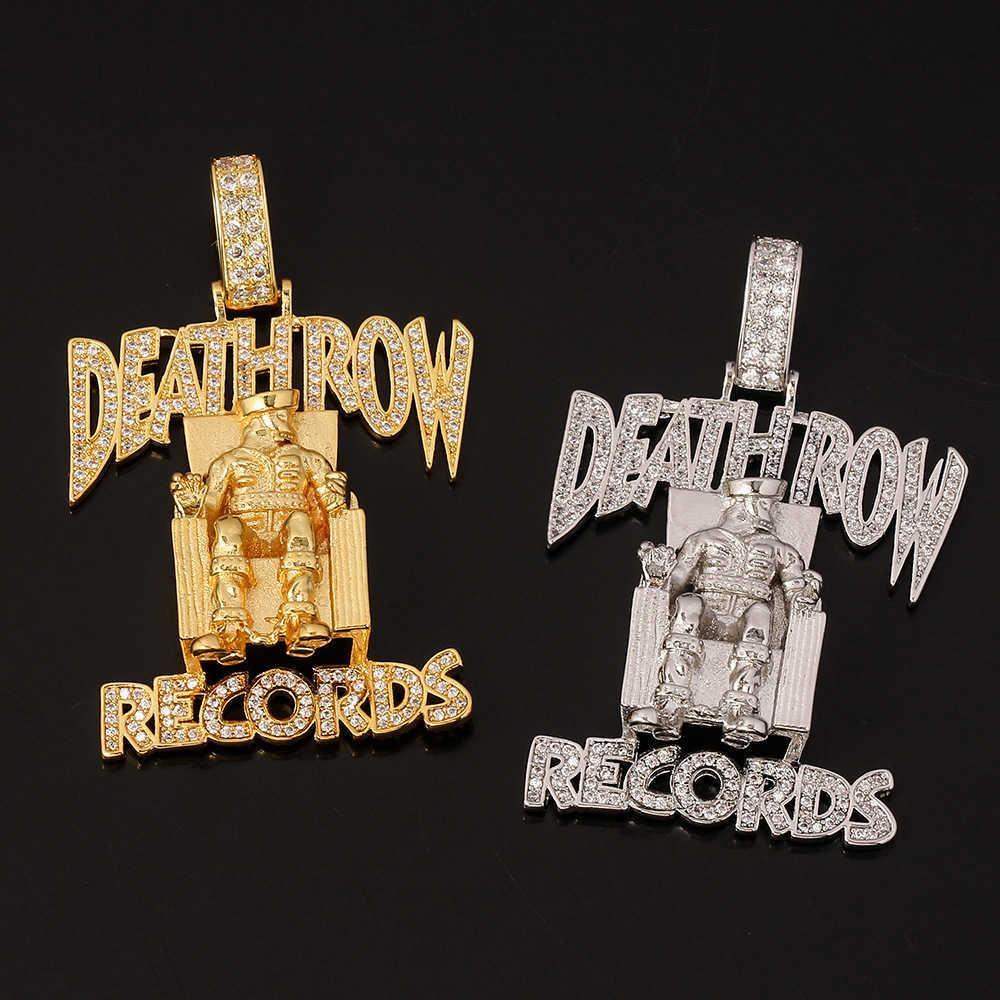 Moda Hip-Hop Gothic Hanger Deathrow Records carta para hombres con cadenas largas Cadena Rapper Regalos