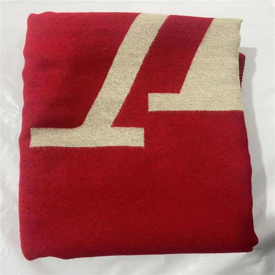 Sciarpa invernale Unisex 100% Sciarpe di lana in lana Classic Letter Wrap Unisex Ladies e Boys Cashmere Scialle Lame Scialli Scarpa originale
