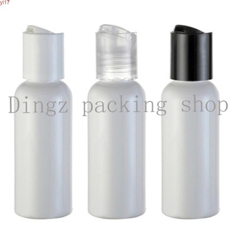 50 шт. 50 мл пустой белой пластиковой косметической лосьонной бутылкой с дисковым винтовым крышкой 50CC Шампунь для домашних животных, косметическая упаковка HIGE