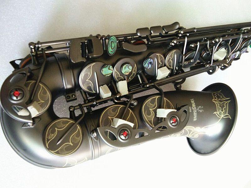 أفضل نوعية Yanagisawa A-992 ألتو ساكسفون E-flat أسود ساكس ألتو المعبرة الرباط القصب الرقبة الملحقات الآلات الموسيقية وصندوق الصلب
