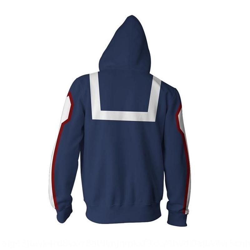 3D Serisi kahraman baskı erkek kapüşonlu sweatshirtsweater 7seO2 uzun fermuar kahraman Akademi Serisi 3D erkek Sweat Akademi sweatshir baskı manşonlu