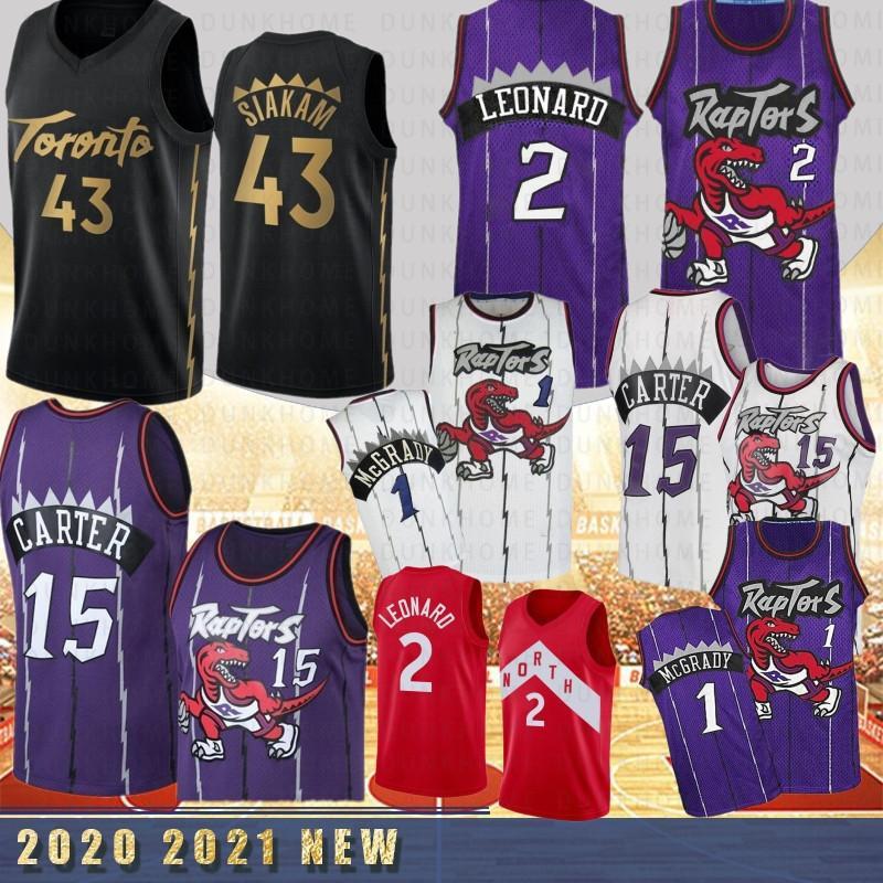 NCAA Pascal 43 Siakam Mens College Basketball трикотажных изделий Tracy 1 McGrady Винс Картер 15 Горячие Продажа трикотажных изделий прошитой New 2020